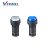 self-locking Led lamp push button switch Convex head button white blue 22mm