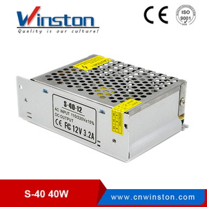 S-40 40w 100-240v ac/dc led power supply 5V ~ 24v cctv switch mode power supply with CE ROHS