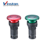 Self-locking Mushroom head Lamp push button with light red green 22mm switch Push Button