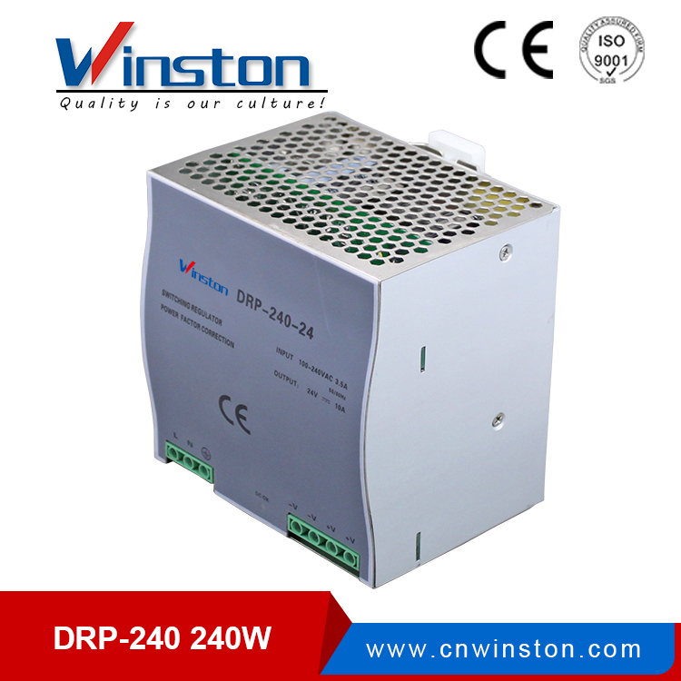 PFC function din rial power supply unit 240W 24V DRP-240-24