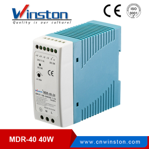 110v/220v ac to dc MDR-40-24 40W 24V 1.7A Din Rail Power Supply