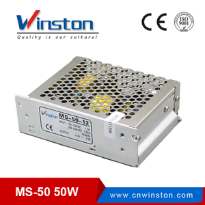 CE ROHS MS-50-15 5V ~24V ac dc LED Light Driver Power Supply with 2 years warranty