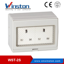 British WST-2S IP55 Waterproof 2 Gang Outdoor Electrical Sockets